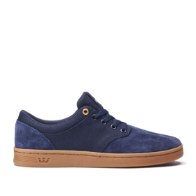 Supra Mens CHINO COURT Midnight/gum Low Top Shoes | CA-53695